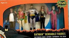 Loot Crate DX 1960's Batman Bendable Classic Action Figures Set - ORIGINS