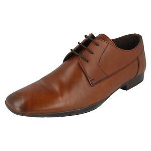 Uomo Base London Marroncino Leather Scarpe con Lacci LIBRA