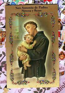San Antonio de Padua Novena y Rezos - Spanish - Booklet