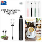 USB Rechargeable Electric Egg Beater Milk Coffee Frother Drink Foamer Mixer Tool