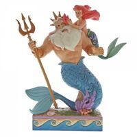 Disney Traditions 4059730 Daddy's Little (Ariel with Triton Figurine) New&Boxed