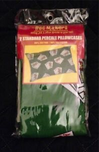 Bed Makers Percale Two Pillowcases Poker Theme
