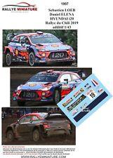 DECALS 1/43 REF 1997 HYUNDAI I20 WRC SEBASTIEN LOEB RALLYE DU CHILI 2019