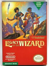 Vintage Nintendo NES LEGACY OF THE WIZARD Game & Box & Manual 1988
