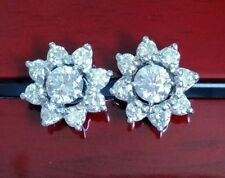 Cluster Not Enhanced White Gold Fine Earrings
