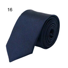 Fashion Classic Skinny Men's Tie Solid Color Plain Silk Jacquard Woven Necktie