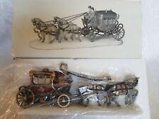Department 56 Royal Coach Heritage Christmas Village Horses Carriage 5578-6 Nib
