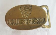 Vintage Guinness Brass Belt Buckle