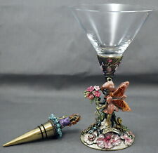 """Kirk'S Folly Fairy Glass & Bottle Stopper Mutli-Color 7"""" High"""