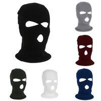 3 Hole Full Face Mask Winter Cap Balaclava Hood Army Tactical Knit Warm Masks