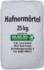 Lizzi Hafnermörtel 25 kg Schamottemörtel Lehmmauermörtel  Lehmmörtel Ofenlehm