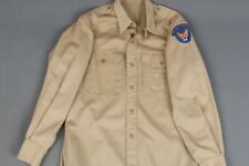 Vtg Mens 1940s Post Wwii Usaaf Army Air Force Khaki Uniform Shirt 15x32 40s Ww2