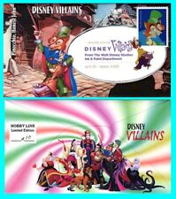 Disney Villains Pinocchio, Honest John First Day Cover with Color Cancel