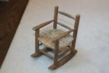Vintage Doll Chair Rush Decoration Stuffed Animal Kid Girls Youth Furniture Play