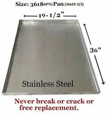 "Dog Crate Tray Pet Crate Pan Stainless Steel Chew Proof Dog Crate-36""x19-1/2""x1"""