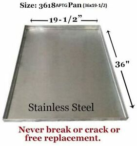 """Dog Crate Tray Pet Crate Pan Stainless Steel Chew Proof Dog Crate-36""""x19-1/2""""x1"""""""