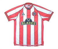 Sheffield United 1999-00 Authentic Home Shirt (Excellent) L Boys Soccer Jersey