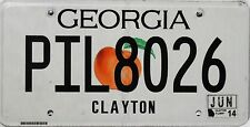 Georgia License Plate, TARGA ORIGINALE USA i funghi 8026 immagine originale