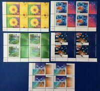 Australian Stamps 2000 45c Nature and Nation full Set of 5 corner block of 4 MNH