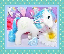 ❤️My Little Pony MLP G1 Vtg 1984 European UK Exclusive White Tootsie Blue Mane❤️
