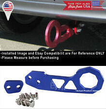 Aluminum Anodized Billet Blue Rear Bumper Tow Hook Towing  For VW Porsche Audi