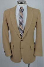 (40L) Vintage Men's Brown Khaki Classic Camel Hair Blazer Sport Coat Jacket