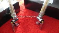 Two chrome PETROL TAPS with ethanol FUEL RESISTANT viton seals 1/4 gas Triumph +