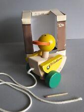 Eichhorn Holz Ente auf Räder Nachziehtier Bewegt Flügel und Kopf