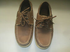DOCKERS BROWN LEATHER/MESH MENS BOAT SHOES 8M