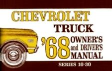 Chevrolet 1968 Truck Owner's Manual 68 Chevy Pick Up