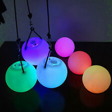 LED Multi-Colours Glow POI Thrown Balls Light For Belly Dance Props NEW 2016