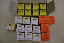 MIXED LOT Spark Plugs: Autolite 2634 Accel 194 112 263 42442 NEW NOS + Decals