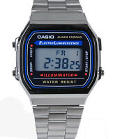 Casio Men's Digital Quartz 7 Years Battery Life Stainless Steel Watch A168W-1