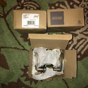 New In Box schlage Hall & Closet passage latch Satin Nickel F10 ACC 619