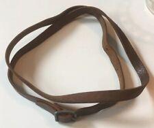 """Vintage 38"""" Brown Leather Camera Neck Strap 3/8"""""""
