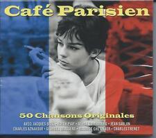 Cafe Parisien - 50 Chansons Originales - Original Tracks (2CD 2010) NEW/SEALED