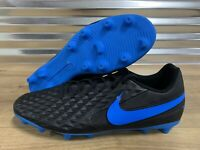 Nike Tiempo Legend 8 Club FG Soccer Cleat Black Blue SZ ( AT6107-004 )