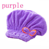 Microfiber Women Bath Quick Dry Hair Magic Drying Turban Wrap Towel Hat Caps