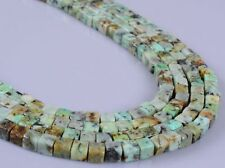 0136 4mm African turquoise cube loose gemstone beads 15""