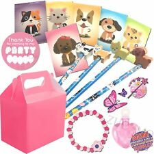Girls Pink Pre Filled Pets Party Bags Box Wedding Birthday Party Gifts (Set 5)