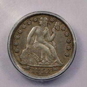 1853-P 1853 Seated Liberty Dime ICG AU50 Arrows
