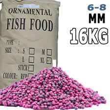 Premium BULK Goldfish Koi Tropical Floating Fish Food Pellet 6 - 8mm Bucket 16kg