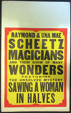 Raymond & Uma Mae Scheetz Window Card