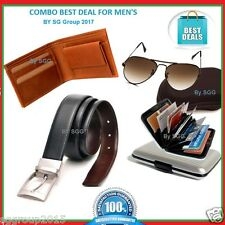 COMBO- Wallet - Reversible Leather Belt -Sunglasses -Card Holder For Men By SGG