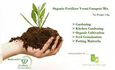 ORGANIC FERTILIZER , VERMI COMPOST MIXTURE  FOR GARDENING - 490g Free Shipping