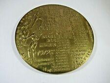 MÉDAILLE CALENDRIER  Bronze la ronde des heures 1972 signee A.Devigne