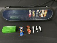 Tech Deck Vintage Finger Board Skateboards & Accessories w/ Black Case