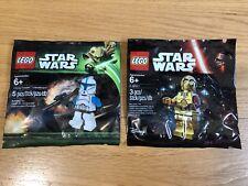 🔹 Sellado 🔹 Lego Star Wars Minifigura polybags Paquete Colección 🔹 X2/Exclusivo 🔹