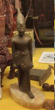 VINTAGE EGYPTIAN BRONZE STATUE ON ONYX BASE