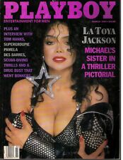 Playboy March 1989 - LaToya Jackson Pamela Des Barres L Wood - free shipping